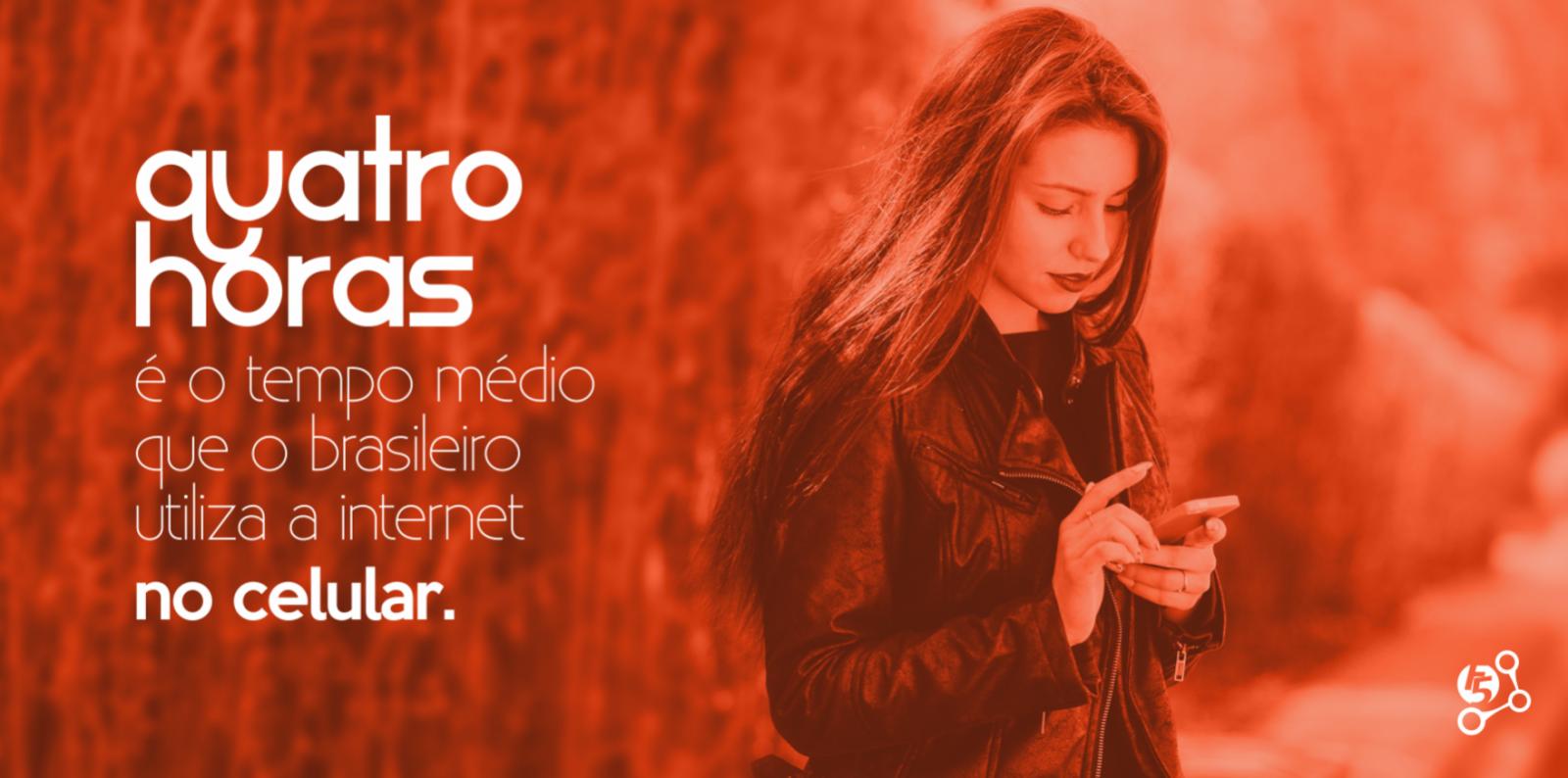 A Internet consume boa parte das horas dos Brasileiros.