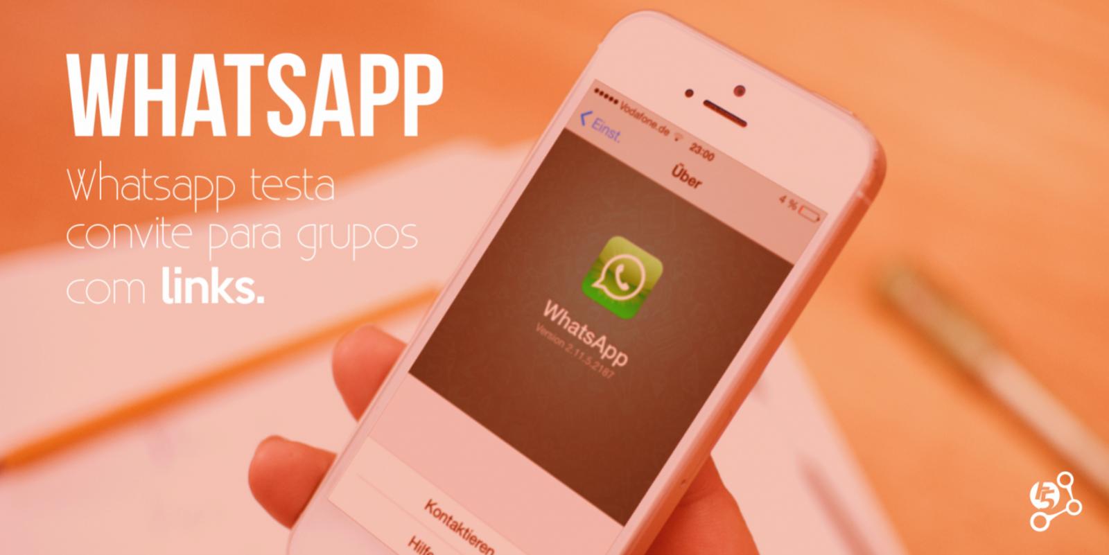 WhatsApp teste recurso de convite para grupos.